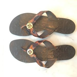 New! Tori Burch Flip flops
